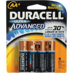 Duracell AA Ultra 1.5V Alkaline Coppertop Battery (4 Pack)