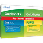 Intuit QuickBooks Pro 2012 + Payroll Enhanced Value Pack Software - 3 Employees