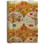 Pioneer Photo Albums BDP-35D Design Cover Photo Album (Ancient World Map)