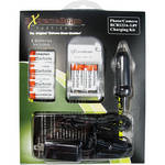 ExtremeBeam CR123A 3.0V Charger Kit with 6 Rechargeable Li-ion Batteries (500mAh)