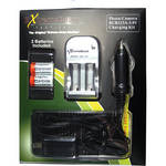 ExtremeBeam CR123A 3.0V Charger Kit with 2 Rechargeable Li-ion Batteries (500mAh)