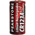 Pearstone CR-123A Rechargeable Lithium Battery (3.7V)