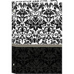 Pioneer Photo Albums STC-46D Pocket 3-Ring Binder Album (Black and White Damask)