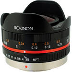 Rokinon 7.5mm f/3.5 Ultra Wide-Angle Fisheye Lens for Micro 4/3 (Black)