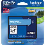 "Brother TZe545 Laminated Tape for P-Touch Labelers (White on Blue, 0.7"" x 26.2')"