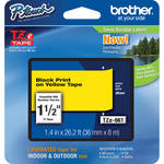 "Brother TZe661 Laminated Tape for P-Touch Labelers (Black on Yellow, 1.4"" x 26.2')"