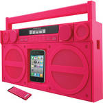 iHome iP4 Portable FM Stereo Boombox for iPhone / iPod (Pink)