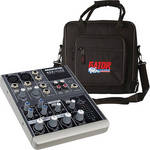 Mackie 402-VLZ3 4-Channel Compact Audio Mixer with Bag Kit