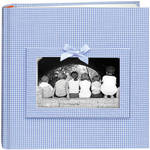 Pioneer Photo Albums DA200GRB-GB Baby Frame Gingham Fabric Memo Album (Blue)
