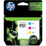 HP 951 Cyan, Magenta, and Yellow Ink Cartridge Combo Pack