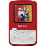 SanDisk Sansa Clip Zip MP3 Player (4GB, Red)