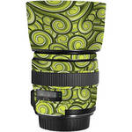LensSkins Lens Skin for the Canon 85mm f/1.8 EF USM Lens (Green Swirl)