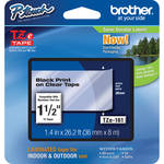 "Brother TZe161 Laminated Tape for P-Touch Labelers (Black on Clear, 1.4"" x 26.2')"