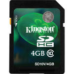 Kingston 4GB SDHC Memory Card Class 10