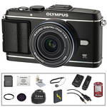 Olympus E-P3 PEN Digital Camera & 17mm Lens (Black) with Deluxe Accessory Kit
