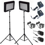 Bescor LED-95DK Dual LED Light Kit with Extended Batteries