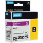 "Dymo Rhino 3/4"" Purple Vinyl Labels (White Print)"