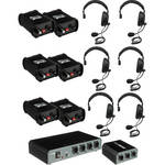 PortaCom COM-60FCS 6 Single Headset Wired Intercom System