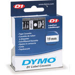 "Dymo Standard D1 Tape (White on Black, 3/4"" x 23')"