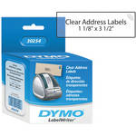 "Dymo LabelWriter Address Labels Clear (1 1/8 x 3 1/2"")"