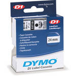 "Dymo Standard D1 Labels (Black Print, Clear Tape - 1"" x 23')"