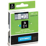 "Dymo Standard D1 Labels (White Print, Clear Tape - 1/2"" x 23')"