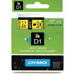 "Dymo Standard D1 Labels (Black Print, Yellow Tape - 1/2"" x 23')"