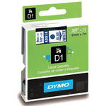 "Dymo Standard D1 Labels (Blue Print, White Tape - 3/8"" x 23')"