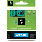 "Dymo Standard D1 Labels (Black Print, Green Tape - 1/2"" x 23')"