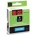 "Dymo Standard D1 Tape (Black on Red, 3/4"" x 23')"