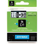 "Dymo Standard D1 Tape (Black on Clear, 3/4"" x 23')"