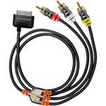 Scosche sneakPEEK - Premium RCA Composite Audio/Video cable for iPad, iPhone and iPod
