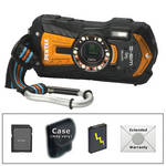 Pentax Optio WG-2 Digital Camera with GPS Deluxe Accessory Kit (Orange)