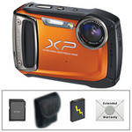 Fujifilm FinePix XP100 Digital Camera (Orange) with Deluxe Accessory Kit