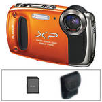 Fujifilm FinePix XP50 Digital Camera (Orange) with Basic Accessory Kit