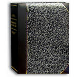 Pioneer Photo Albums Ledger Bi-Directional Le Memo Photo Album (Silver Marble)