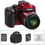 Nikon Coolpix P510 Digital Camera (Red) with Deluxe Accessory Kit