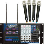VocoPro PA-MAN II-3 Four-Channel Wireless All-In-One P.A. System