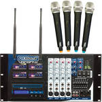 VocoPro PA-MAN II-4 Four-Channel Wireless All-In-One P.A. System
