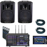 VocoPro PA-PRO TRIO 900W Professional PA Mixer Package