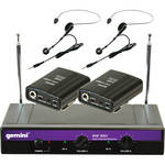 Gemini VHF-2001HL Dual VHF Wireless Headset & Lavalier Microphone System