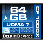 Delkin Devices 64GB CompactFlash 1000x UDMA Memory Card