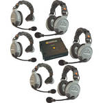 Eartec COMSTAR XT-6 6-User Full Duplex Wireless Intercom System (Europe)