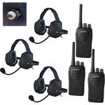 Eartec 3-User SC-1000 Two-Way Radio with XTreme Shell Mount PTT Headsets
