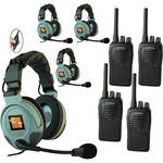 Eartec 4-User SC-1000 Two-Way Radio System with MAX3G Double Inline PTT