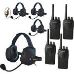 Eartec 4-User SC-1000 Two-Way Radio with XTreme Inline PTT Headsets