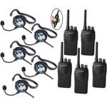 Eartec 5-User SC-1000 Two-Way Radio System with Fusion Inline PTT Headsets