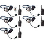 Eartec 5-User SC-1000 Two-Way Radio System with Monarch Inline PTT Headsets