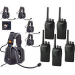 Eartec 5-User SC-1000 Two-Way Radio with Ultra Double Shell Mount PTT Headsets