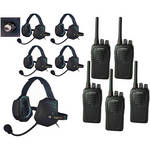 Eartec 5-User SC-1000 Two-Way Radio with XTreme Shell Mount PTT Headsets